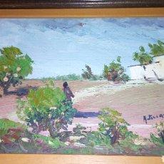 Arte: PRECIOSO OLEO DE PAISAJE ENMARCADO FIRMADO. Lote 109391968