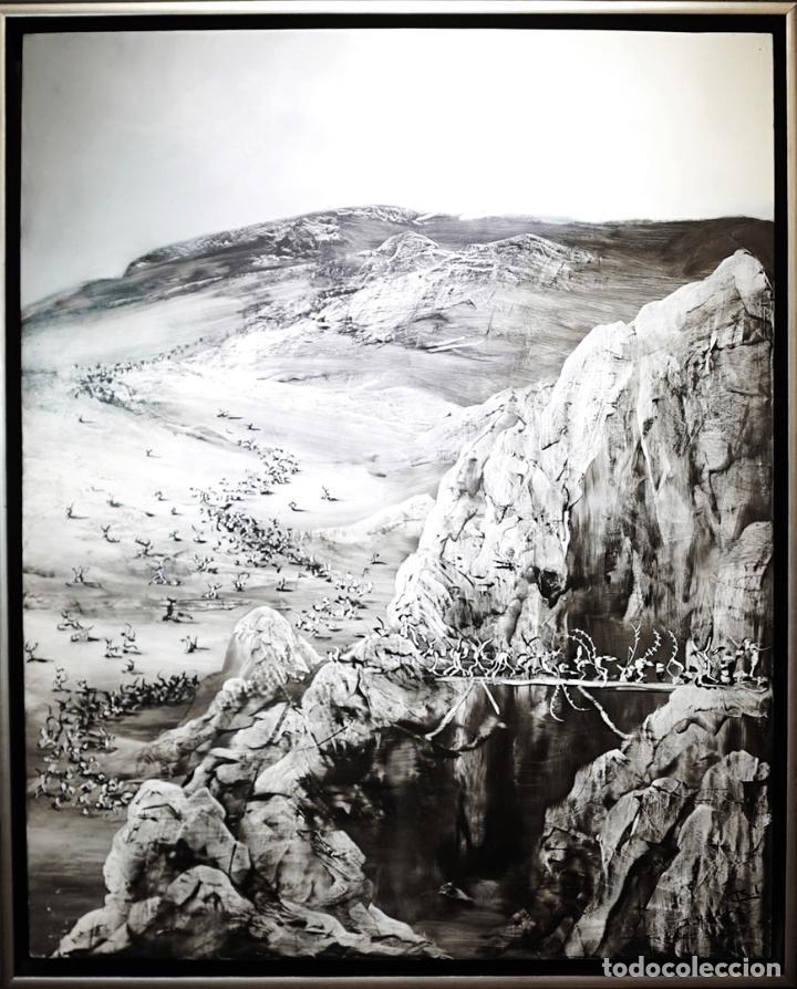 CTHULHU - JOSE BENITEZ MONTILLA- OLEO SOBRE TABLA (Arte - Pintura - Pintura al Óleo Contemporánea )