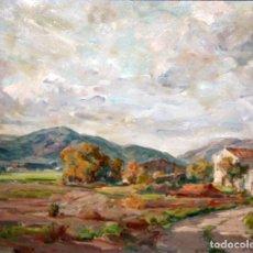 Arte: LLUÍS MARIA GÜELL (VILAFRANCA DEL PENEDÈS 1909 - BARCELONA, 2001) OLEO SOBRE TELA. PAISAJE. Lote 109414379