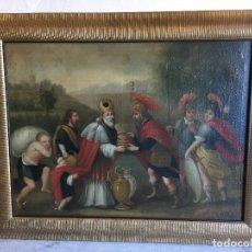 Arte: ANTIGUO OLEO SOBRE LIENZO DE EL ENCUENTRO ABRAHAM Y MELQUISEDEC. Lote 109438103