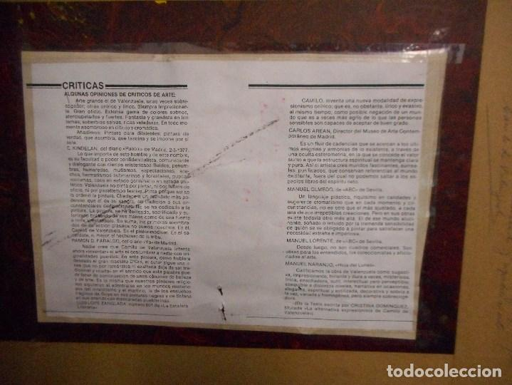 Arte: cuadro de camilo valenzuela firmado y dedicado - Foto 6 - 109465411