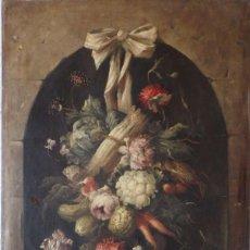 Arte: BODEGÓN BAJO HORNACINA. JOSÉ MARTORELL PUIGDOMECH. CATALUÑA SIGLOS XIX-XX.. Lote 109502151