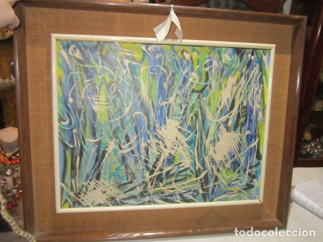 oleo sobre tablex abstracto. marco: 60 x 50 cms - Comprar Pintura al ...
