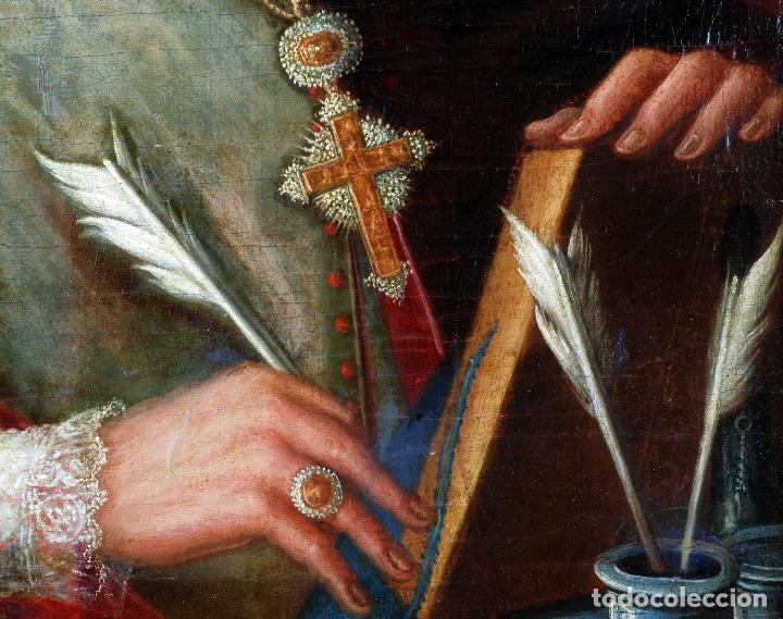 Arte: Retrato arzobispo óleo sobre lienzo escuela española siglo XVIII - Foto 6 - 109566467