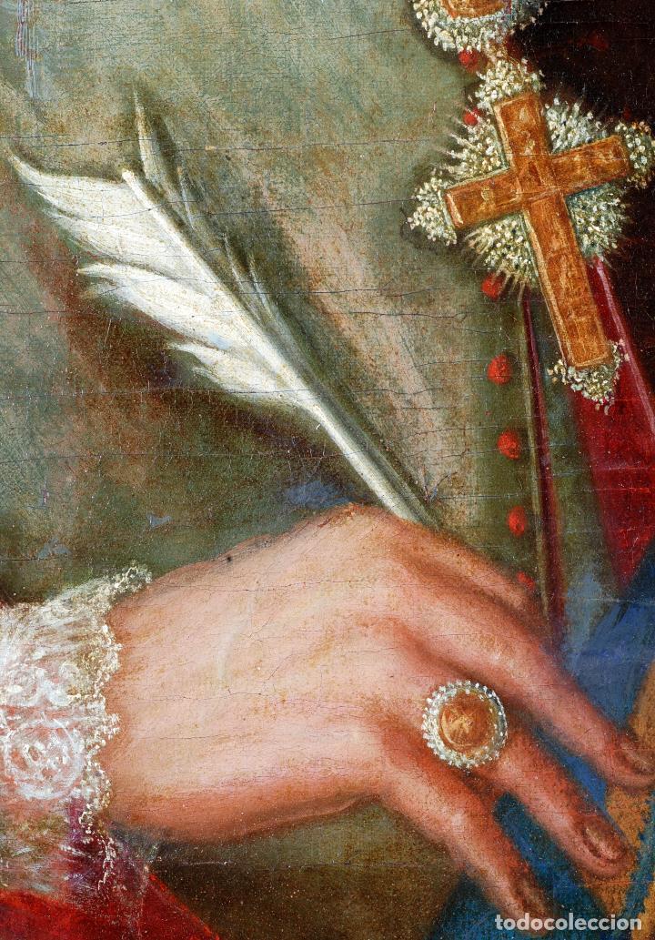 Arte: Retrato arzobispo óleo sobre lienzo escuela española siglo XVIII - Foto 7 - 109566467