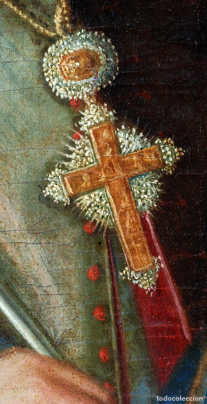 Arte: Retrato arzobispo óleo sobre lienzo escuela española siglo XVIII - Foto 8 - 109566467