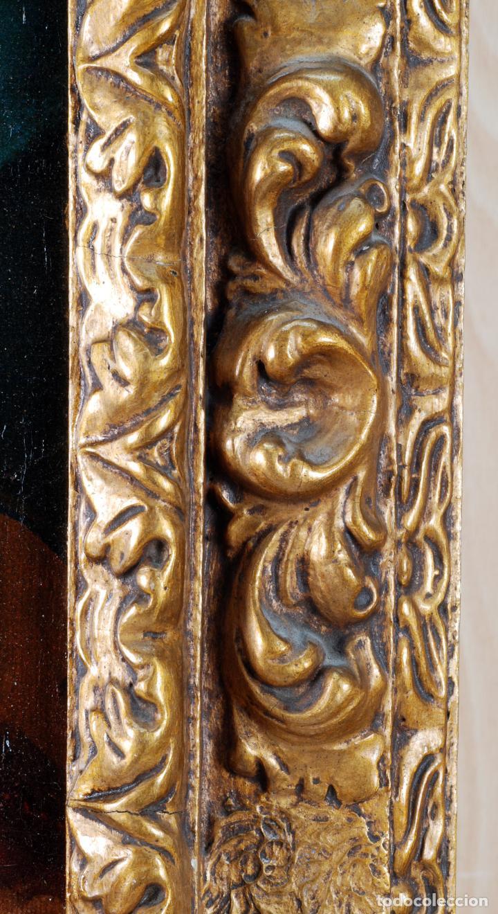 Arte: Retrato arzobispo óleo sobre lienzo escuela española siglo XVIII - Foto 9 - 109566467