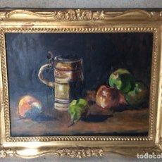 Arte: ÓLEO BODEGÓN EN TABLA. FIRMADO.. Lote 109755531