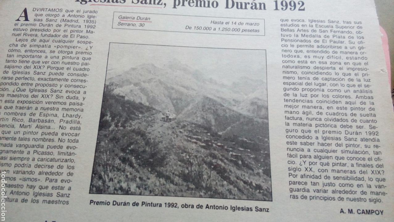 Arte: PAISAJE RURAL OLEO (80x55) DE ANTONIO IGLESIAS SANZ, enmarcado - Foto 5 - 72103611