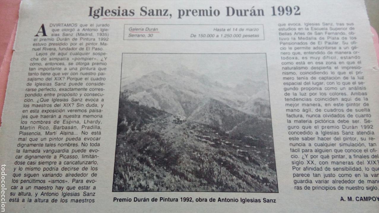 Arte: PAISAJE RURAL OLEO (80x55) DE ANTONIO IGLESIAS SANZ, enmarcado - Foto 6 - 72103611