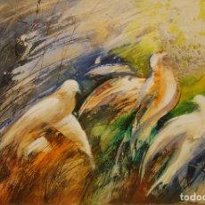 Arte: ÓLEO ANDREU FRESQUEST PALOMAS. Lote 109794407