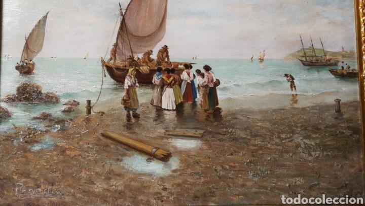 FANTÁSTICO ÓLEO MIGUEL PRADILLA GONZÁLEZ HIJO DE FRANCISCO PRADILLA ORTIZ (Arte - Pintura - Pintura al Óleo Moderna siglo XIX)