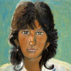 Arte: JORDI CURÓS VENTURA (BARCELONA, 1930) OLEO SOBRE TELA. RETRATO FEMENINO FECHADO DEL AÑO 1966. Lote 109935951