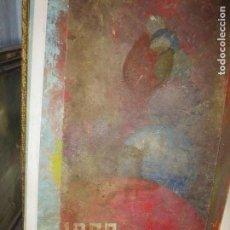Arte: ANTIGUO CARTEL OLEO EN MADERA HOGUERAS SAN JUAN ALICANTE PINTURA ANTIGUA FOGUERES. Lote 109911843