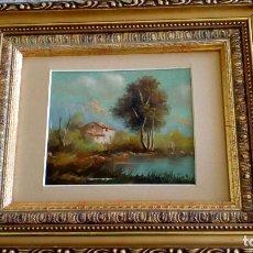 Arte - Cuadro O/plancha cobre miniatura paisaje - 110091803