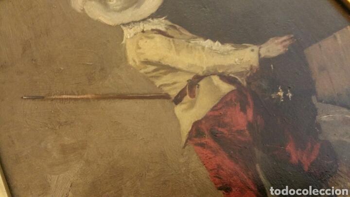Arte: Tabla pintada al óleo siglo XIX representando mosquetero o soldado de los tercios - Foto 4 - 110098740