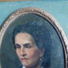 Arte - Retrato de una dama por Casado del Alisal, ovalado, firmado - 110110463