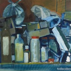 Arte: ISABEL SERRAHIMA (1934-1999) ÓLEO SOBRE LIENZO COMPOSICIÓN . Lote 110114535