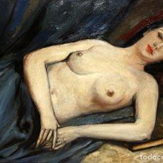 Arte: JOSEP TRUCO PRATS (BARCELONA, 1923 - ??) OLEO SOBRE TELA. DAMA RECOSTADA. Lote 110152331
