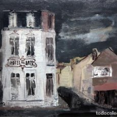 Arte: JOSEP CRUAÑAS FAGÉS (MAYÀ DE MONTCAL, GIRONA 1942) OLEO SOBRE TELA. VISTA URBANA. Lote 110152483