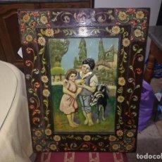 Arte: PRECIOSO ÓLEO SOBRE TABLEX CON RELIEVE Y MARCO PINTADO POR SANTIAGO JIMÉNEZ MIREN FOTOS . Lote 110155607