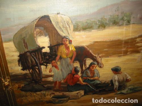 Arte: CARRETA GITANA-oleo sobre lienzo- arte y pintura firmado por muntada - Foto 2 - 110170427