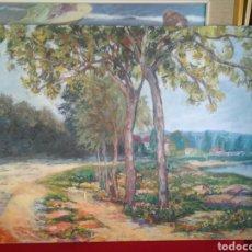 Arte: OLEO SOBRE MADERA PINTADO POR LAS CARAS PRECIOSO AUTOR DES CONOCIDO. Lote 110199607