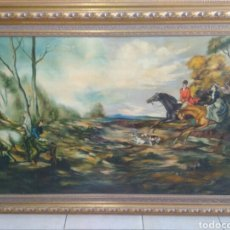 Arte: PINTURA DE OLEO DE GRANDES DIMENSIONES PRECIOSO Y ANTIGUO. Lote 110199856