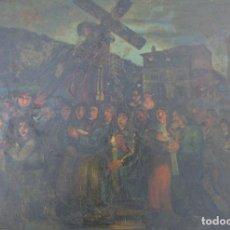 Arte: CELSO GRANDA (ASTURIAS 1905-1975) LA PROCESIÓN.. Lote 110219431