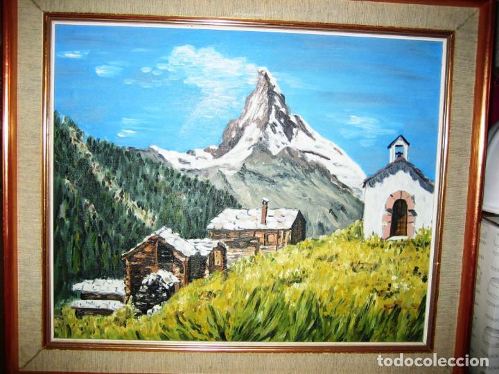 PAISAJE AL OLEO- FIRMADO- 55 X 45-CON MARCO INCLUIDO (Arte - Pintura - Pintura al Óleo Contemporánea )