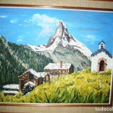 Arte: PAISAJE AL OLEO- FIRMADO- 55 X 45-CON MARCO INCLUIDO. Lote 110257611