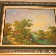 Arte: ARTE PINTURA CONTEMPORÁNEA OLEO SOBRE LIENZO-PAISAJE. Lote 110291387
