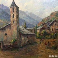Arte: ÓLEO CON PAISAJE (65X54CM) DEL PINTOR CATALÁN VICENÇ CASALS GRAU (1916-2004). Lote 110321383