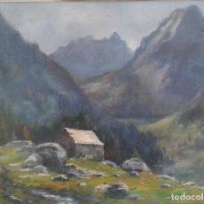 Arte: LLUÍS BONADA BERENGUER. PINTOR NACIDO EN SABADELL EN 1908. ( PONT DE SUERT – BOHI ). Lote 110327343