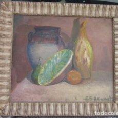 Arte: CUADRO OLEO BODEGON ENMARCADO CON FIRMA R. CANALS, AÑO 65, MEDIDAS: 68 X 59. Lote 110330611