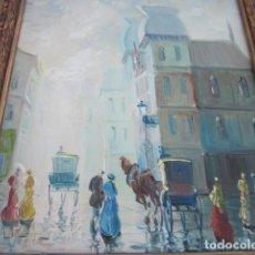 Arte: CUADRO OLEO IMPRESIONISTA PRECIOSO PAISAJE ROMANTICO, ENMARCADO CON FIRMA LUCAS, MEDIDAS 63 X 54. Lote 110376895