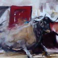 Arte: PINTURA TAURINA. ÓLEO SOBRE TABLILLA.. Lote 110435187
