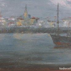 Arte: JULIO FERNANDEZ ARGUELLES. (ARTORGA-LEÓN, 1923-CORUÑA 2002). MARINA. Lote 110450975