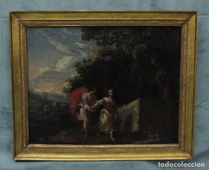 CUADRO O/L ESCENA GALANTE F.S.VXIII. (Arte - Pintura - Pintura al Óleo Antigua sin fecha definida)