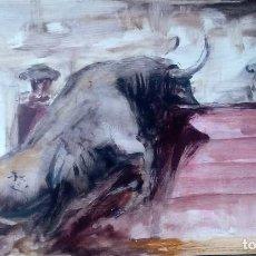 Arte: PINTURA TAURINA. ÓLEO SOBRE TABLILLA. . Lote 110472767