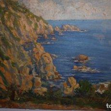 Kunst - PAISAJE DE TOSSA DE MAR . AUTOR JOSEP AMAT I VIRGILI . PINTURA AL OLEO AÑOS 20/30 - 55X46 CM. - 110621999