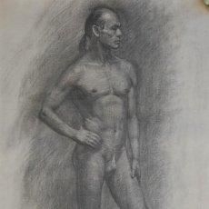 Arte: DESNUDO MASCULINO - RUSIA / EUROPA DEL ESTE - FIRMADA: O. VORONIN. Lote 110629507