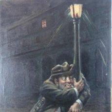 Arte: ÓLEO SOBRE LIENZO - BORRACHO - SIGLO XX.. Lote 110662863