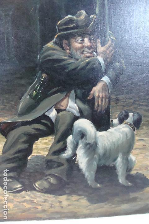 Arte: Óleo sobre lienzo - Borracho - Siglo XX. - Foto 2 - 110662863