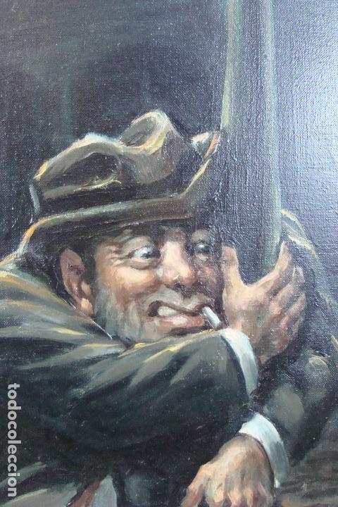 Arte: Óleo sobre lienzo - Borracho - Siglo XX. - Foto 3 - 110662863