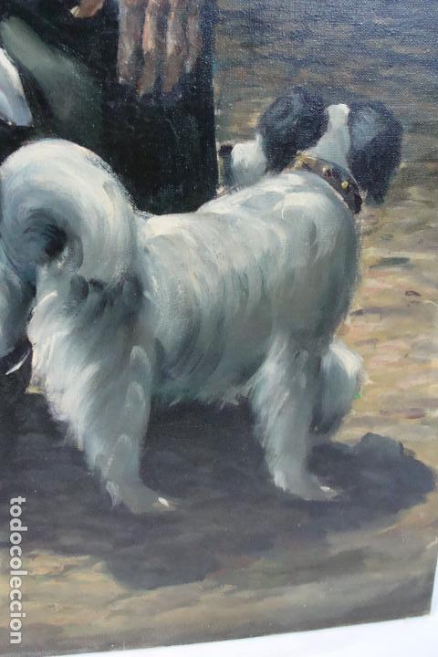 Arte: Óleo sobre lienzo - Borracho - Siglo XX. - Foto 4 - 110662863