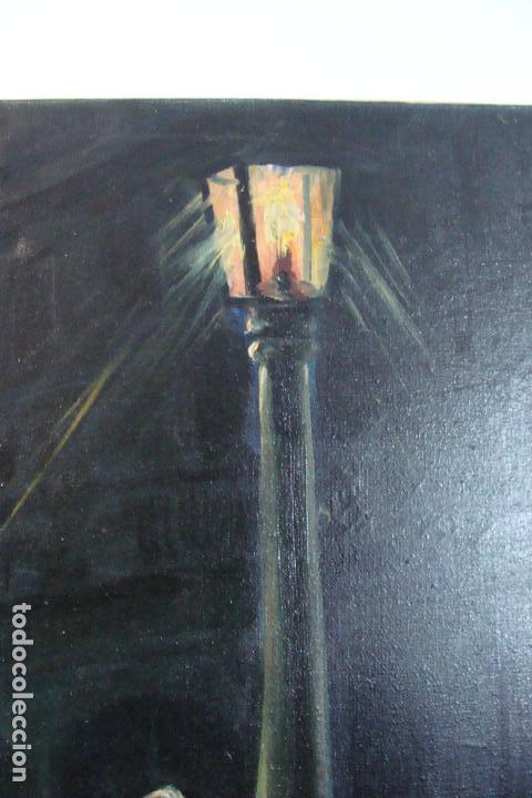 Arte: Óleo sobre lienzo - Borracho - Siglo XX. - Foto 5 - 110662863