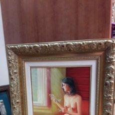 Arte: OLEO SOBRE TELA EN MARCO FRANCÉS JULIO SANZ ESTAÑOL 1929-2012.. Lote 110664467