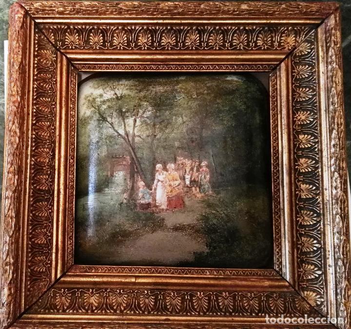 PINTURA ANTIGUA. SIGLO XIX. ÓLEO. MARCO DE ÉPOCA. CASACÓN (Arte - Pintura - Pintura al Óleo Moderna siglo XIX)