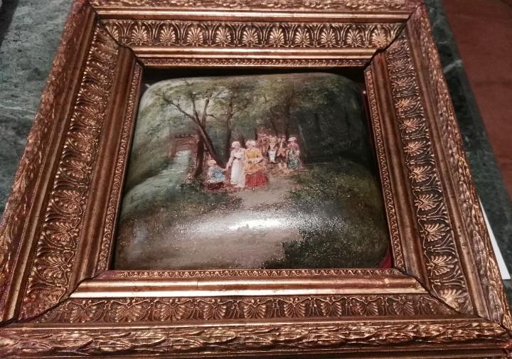 Arte: Pintura antigua. Siglo XIX. Óleo. Marco de época. Casacón - Foto 2 - 110674531